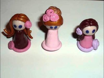 Clay Chibis   Polymer Clay Chibbi dolls