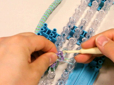 Clipping Ending the Hexafish HD 6-Pin Fishtail Bracelet Part 2 Tutorial - Rainbow Loom