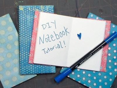 Cute DIY notebooks from ANY paper!