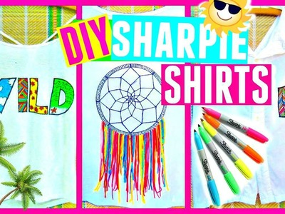 DIY SHARPIE SHIRTS   DIY Clothes for Summer