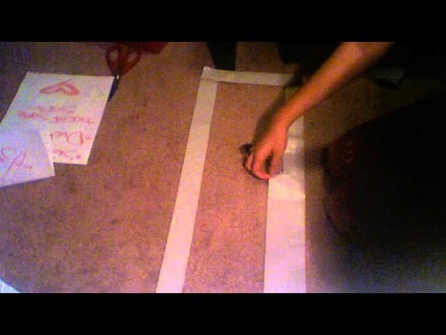 Duct tape corset making part 1