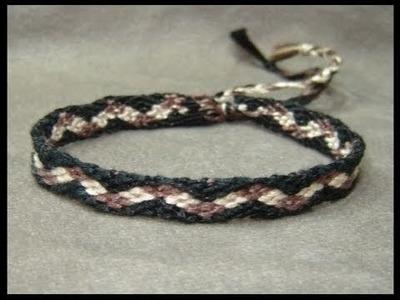 ► Friendship Bracelet Tutorial - Beginner - Checker Pathway