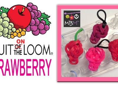 Fruit ON the Loom Charms - Strawberry Made on the Wonder Loom