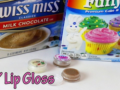 Funfetti Cake Batter lip gloss DIY | How to make Hot Cocoa lip gloss