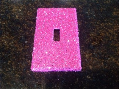 Glitter Switch Plates for Lights