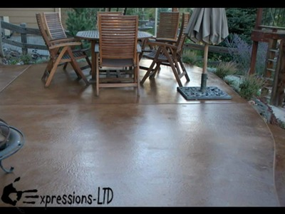 How To Acid Stain a Concrete Patio Floor