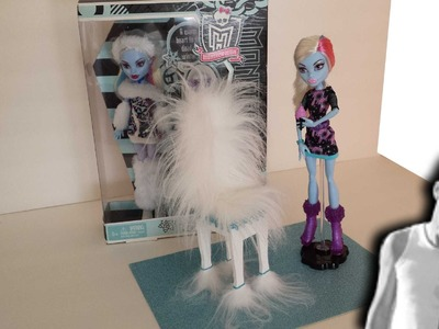 How to make a Abbey Bominable Chair Tutorial.Monster High