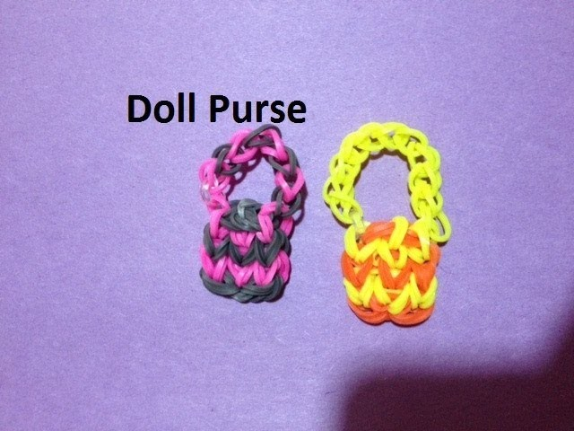 How to Make a Doll Purse Charm on the Rainbow Loom - Original Design