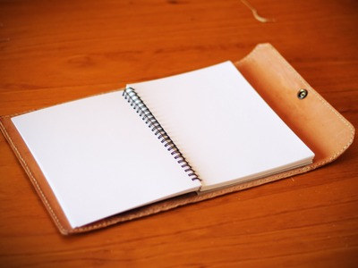 How to Make a Simple Leather Notebook Cover