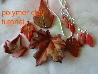 How to make fall leaves with polymer clay