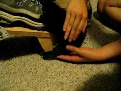 How to make Minotaur costume (feet) part 4