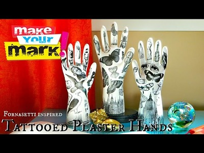 How to: Tattooed Plaster Hands