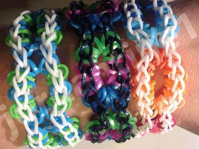 New Rainbow Loom Open Oval Bracelet - Made On 2 Looms
