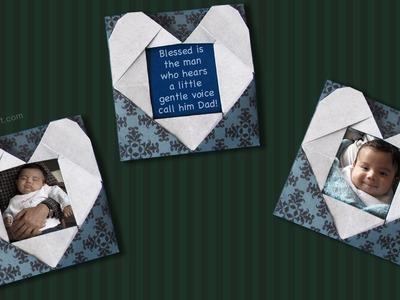 Origami Heart Frame :: Portarretrato Corazón de papel