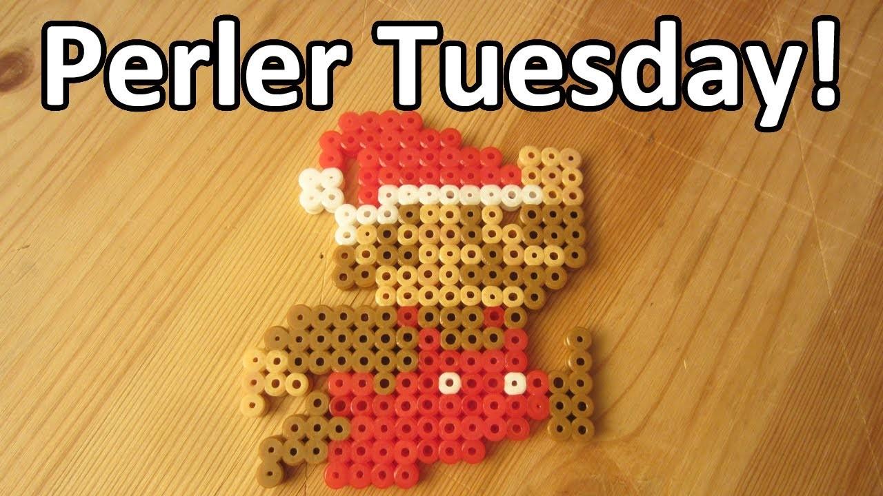 PERLER BEAD: CHRISTMAS MARIO! (Giveaway #73) Tutorial & How To