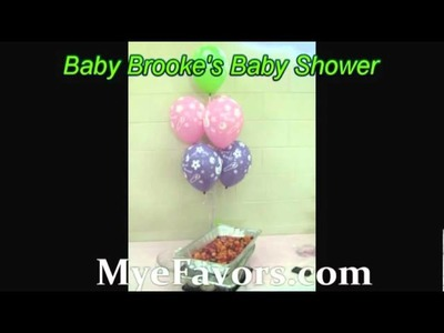 Pink, pok-a-dot Lime Green, lilac Ballon Arch & centerpieces for a Baby  Shower