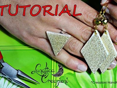 Polymer Clay Tutorial: Parure con Foglia Oro Effetto Cracklè | Gold Leaf Crackle on Polymer Clay