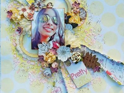 Pretty-Shabby Chic-Mixed Media Layout Tutorial