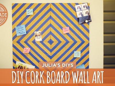 Quick & Easy Corkboard Wall Art - Back to School! - HGTV Handmade