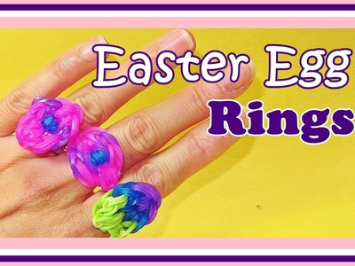 Rainbow Loom Easter Egg RING  (UPDATED)