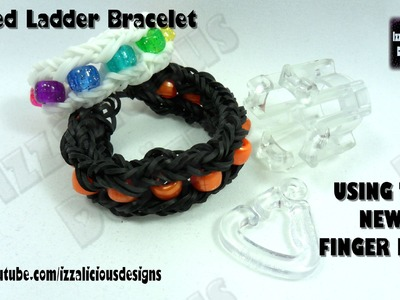 Rainbow Loom - Finger Loom Review & Tutorial - Beaded Ladder Bracelet © Izzalicious Designs 2014