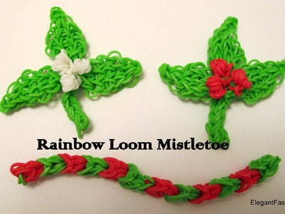 Rainbow Loom Mistletoe.Holly Berries Charm