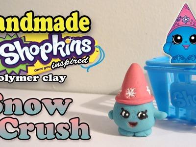 Season 1 Shopkins: How To Make Snow Crush Polymer Clay Tutorial!