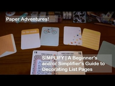 SIMPLIFY | A Beginner's and.or Simplifier's Guide to Decorating List Pages