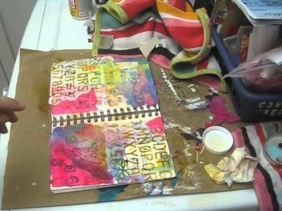 Spread your wings - art journal page
