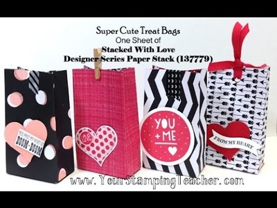 Super Cute Treat Bag Made with Stacked With Love Designer Series Paper Stack