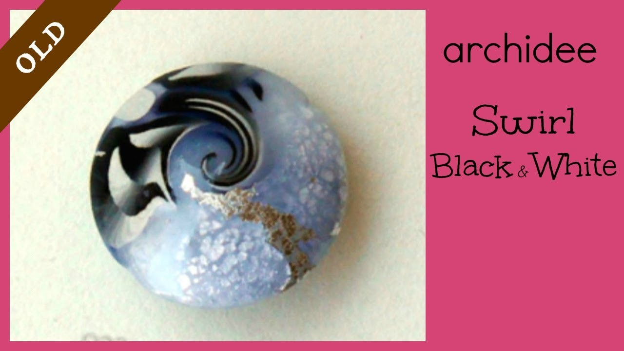 Tutorial | Polymer Clay | Black White & Silver Swirl | LOOK EDITED VIDEO LINK IN THE INFO BOX