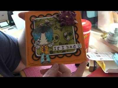 Adam lambert - if i had you - an easy card with Halloween colours - stamp from the Greeting Farm