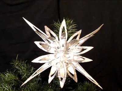 AMAZING CHRISTMAS ORNAMENTS MADE OF CARDBOARD # 23northern star tree topper