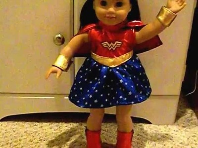 American Girl Doll Chrissa Dressed In Wonder Woman Costume!