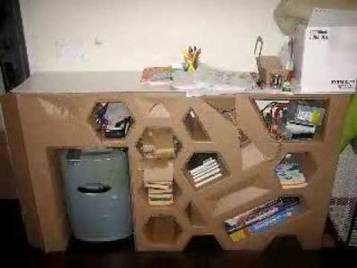 Build a cardboard shelf