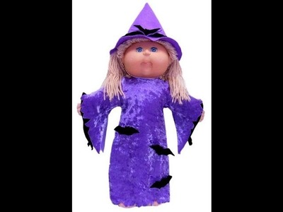 Cabbage Patch Kids Doll Clothes Patterns Halloween Witches Costume