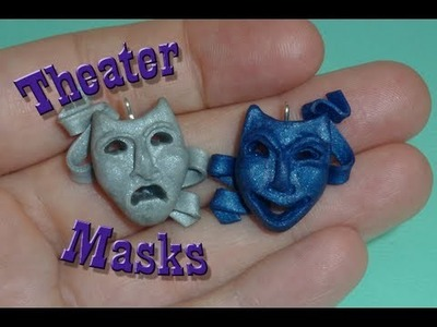 Comedy Tragedy Theater Masks Polymer Clay Charms