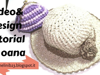 Crochet summer brim hat