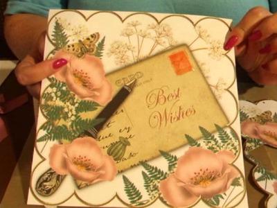 CUP TV Episode 113 - Ann-marie Vaux Pink Poppy Decoupage Topper Card