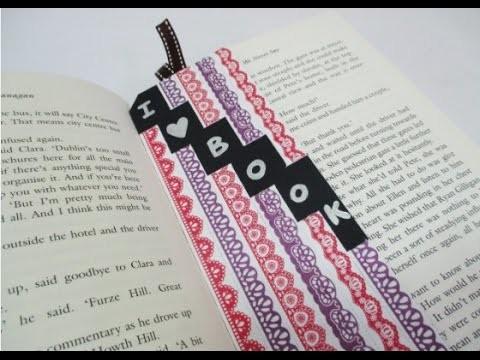 DIY : #102 Tape Stickers BOOKMARK ♥