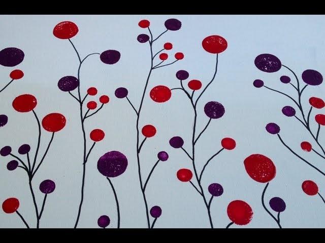 DIY: Circle Forest Painting  ♡ Theeasydiy #ArtForTheNonArtist