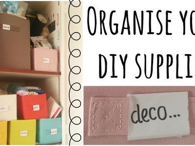 DIY : organise your art & craft supplies