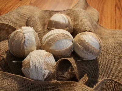 Fall Decorations With Burlap- Easy Home Accents
