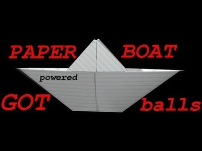 Gum powered paper boat EASY!