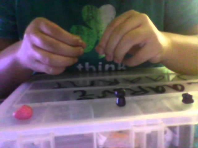 How I make a Kawaii Ninja Charm out of Polymer Clay .wmv