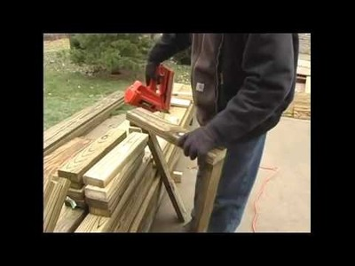 How to Build a Pergola - 5.Cutting Boards for Pergola Base