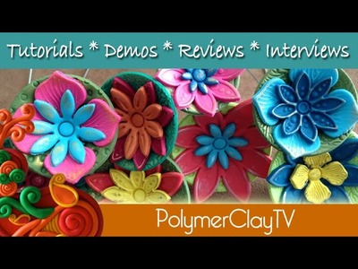 How to make a cute flower plant poker from polymer clay