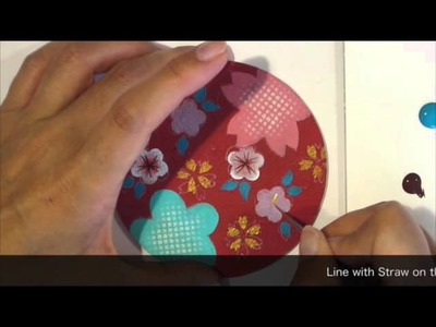How to make Japanese Wagara Painting Lesson 2