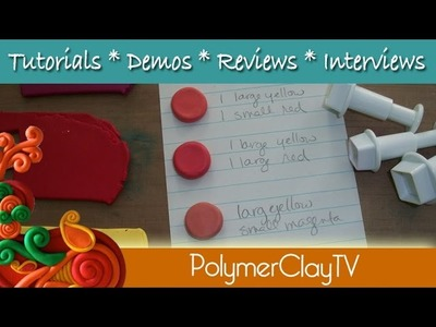 How to Save Custom Color Mix Recipes with polymer clay