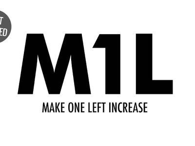 Make One Left Increase (M1L):: Knitting Increase :: Left Handed